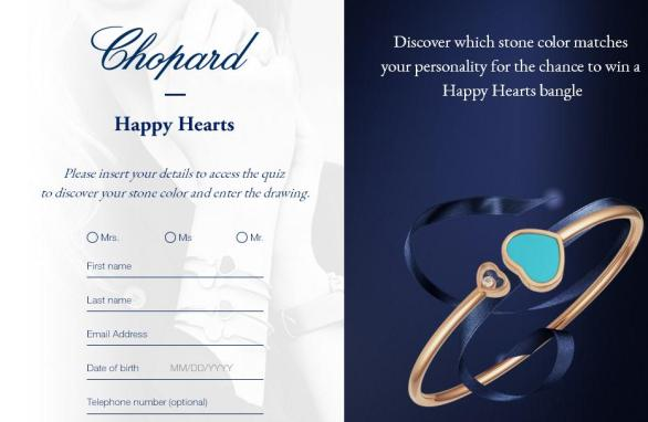 Chopard Happy Hearts Sweepstakes – Win A Happy Hearts Bangle