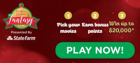 Countdown to Christmas Fantasy Game Sweepstakes – Win $20,000 Cash