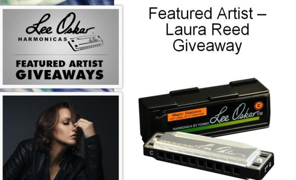 Featured Artist Laura Reed Giveaway – Win Lee Oskar Harmonica