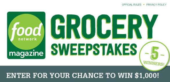 Food Network Magazine $5,000 Grocery Giveaway Sweepstakes – Win $1,000 Prize