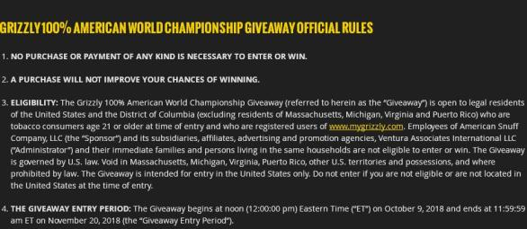 Grizzly 100% American World Championship Giveaway – Win Weekly Prizes