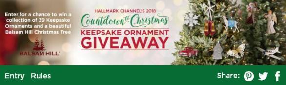 Hallmark Channel's Keepsake Ornament Giveaway