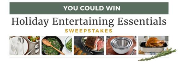 Holiday Entertaining Essentials Sweepstakes – Win Grand Prize