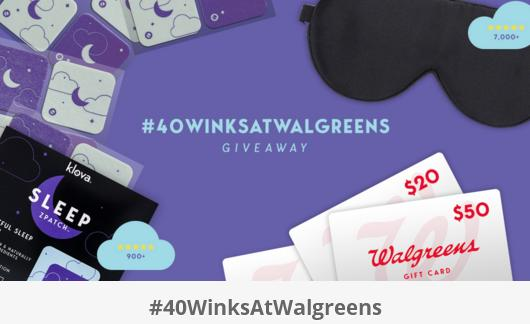 Klova 40 Winks At Walgreens Sweepstakes – Win Klova Sleep ZPatches