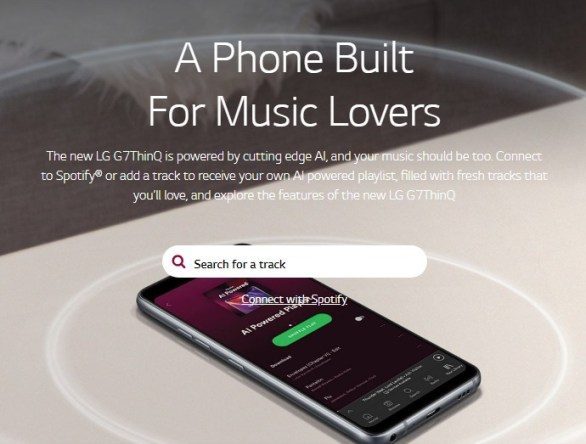 LG Canada Contest - Enter To Win A LG G7 ThinQ And 1 Year of Spotify Premium