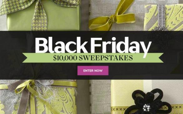 Martha Stewart Black Friday $10,000 Sweepstakes – Win A $10,000 Cash