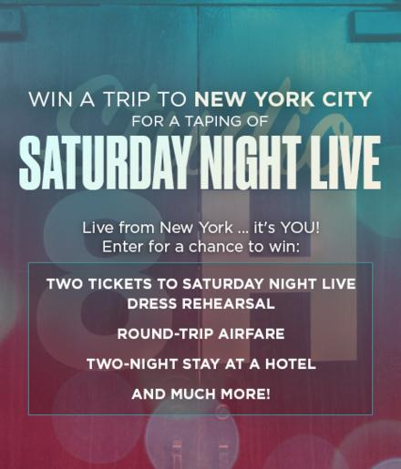 Nbc Saturday Night Live Sweepstakes – Win A Trip To New York
