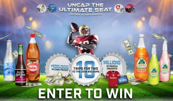 Novamex Uncap The Ultimate Seat Sweepstakes – Win A Trip To The BIG GAME