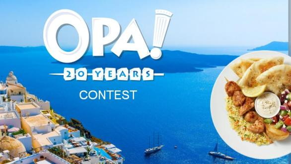 OPA! 20 Years Contest – Win 10 Day All Expenses Paid Trip To Greece