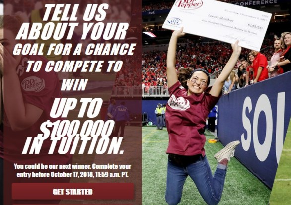 Dr Pepper Tuition Giveaway - Chance To Win A Trip For Two
