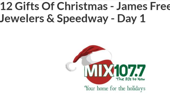 12 Gifts Of Christmas James Free Jewelers & Speedway Sweepstakes