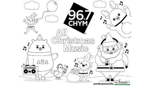 CHYM 96.7 Countdown to Santa Colouring Contest - Enter To Win A Prize From Stem