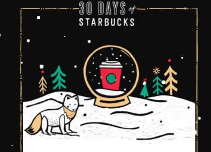 30 Days Of Starbucks Sweepstakes