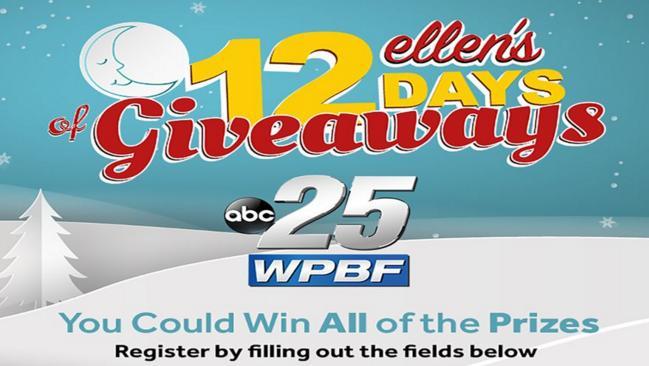 ABC 25 WPBF News Ellen 12 Days Sweepstakes