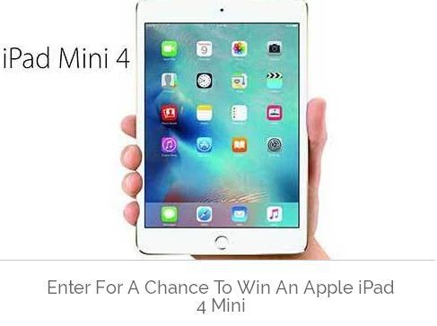 Dealmaxx Apple iPad Mini 4 Sweepstakes