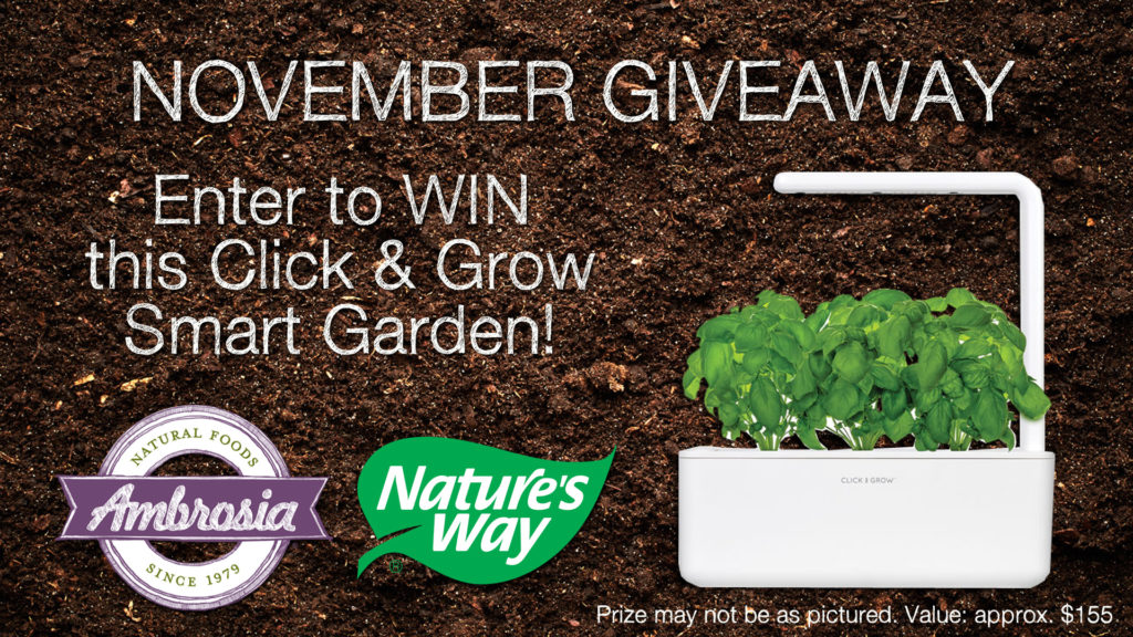Ambrosia November Giveaway Details – Win Click And Grow Smart Garden