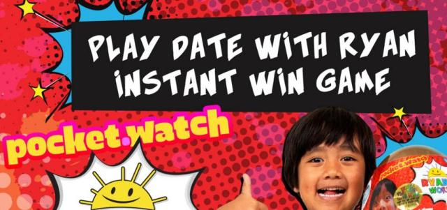 Play Date With Ryan World Instant Win Game – Win A Trip To Los