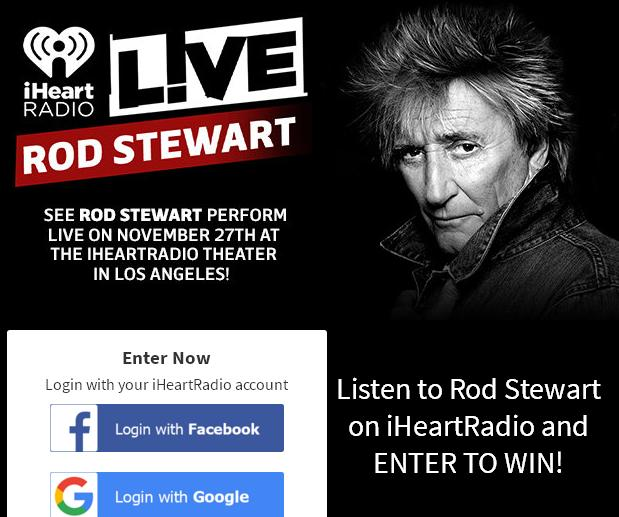 See Rod Stewart Perform LIVE In Los Angeles Sweepstakes
