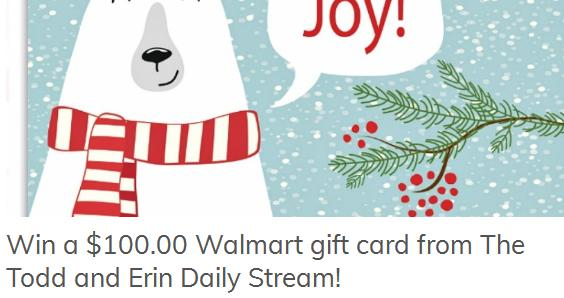 The Todd and Erin Daily Stream Giveaway