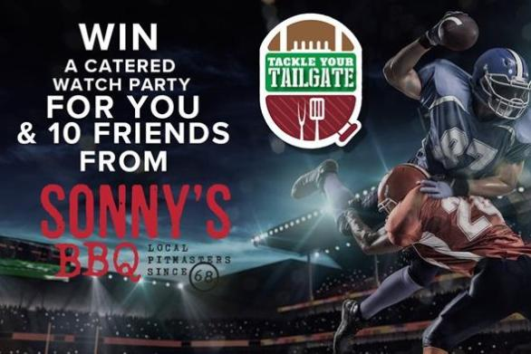 WTSP Tackle Your Tailgate Sweepstakes – Win $150 Sonny's BBQ Gift