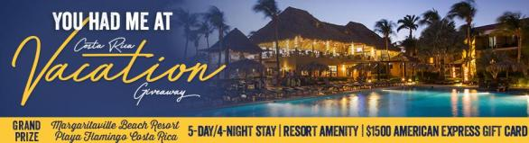 You Had Me At Costa Rica Vacation Giveaway