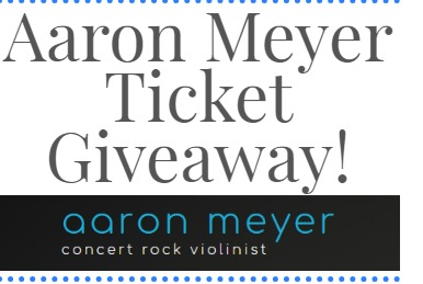 Aaron Meyer Ticket Giveaway - Enter To Win Two Tickets Of Concert