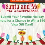 Santa and Me Photo Sweepstakes - Chance To Win A $100 Visa Gift Card