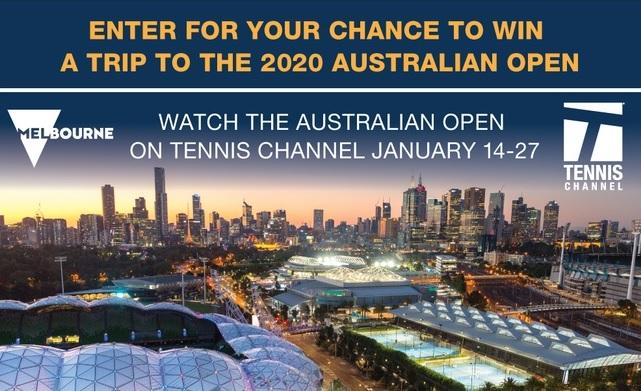 Tennis Channel 2020 Australian Open Trip Giveaway