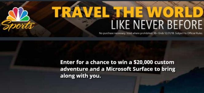 The Microsoft Surface Your Passions Sweepstakes