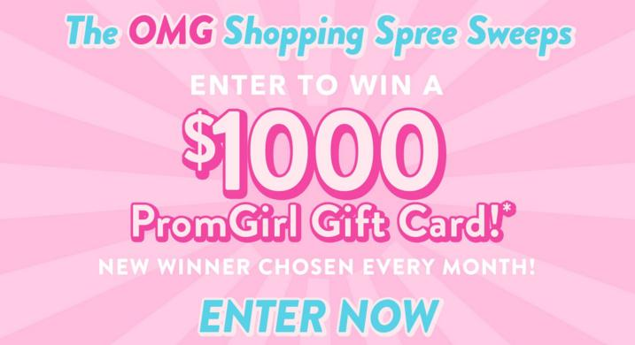 PromGirl OMG Shopping Spree Sweepstakes – Win $1,000 Promotional Gift Code