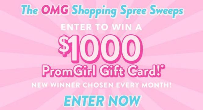 PromGirl OMG Shopping Spree Sweepstakes