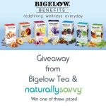 Naturally Savvy Bigelow Tea Benefits teas Giveaway - Chance To Win Gift Box with 108 Tea Bags
