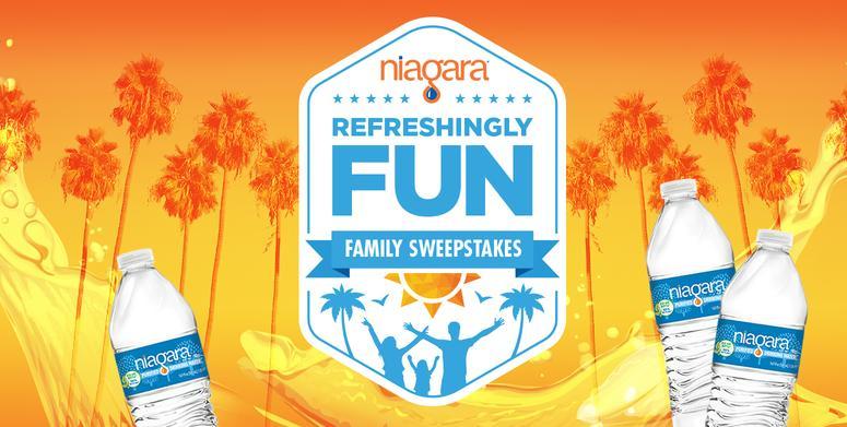 Niagara Refreshingly Fun Family Sweepstakes – Win A Trip Prize