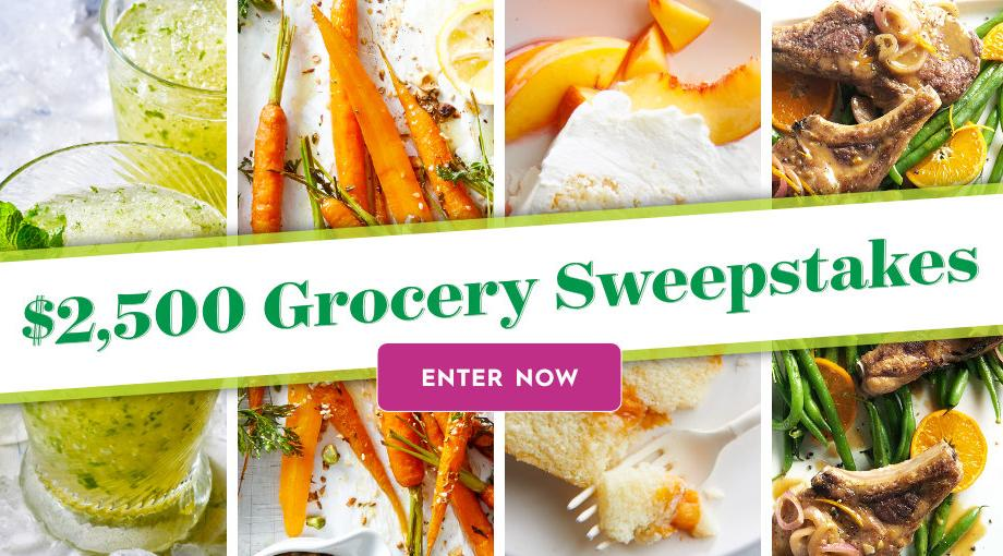 Bhg 2 500 Spring Grocery Sweepstakes Win A 2 500 Check