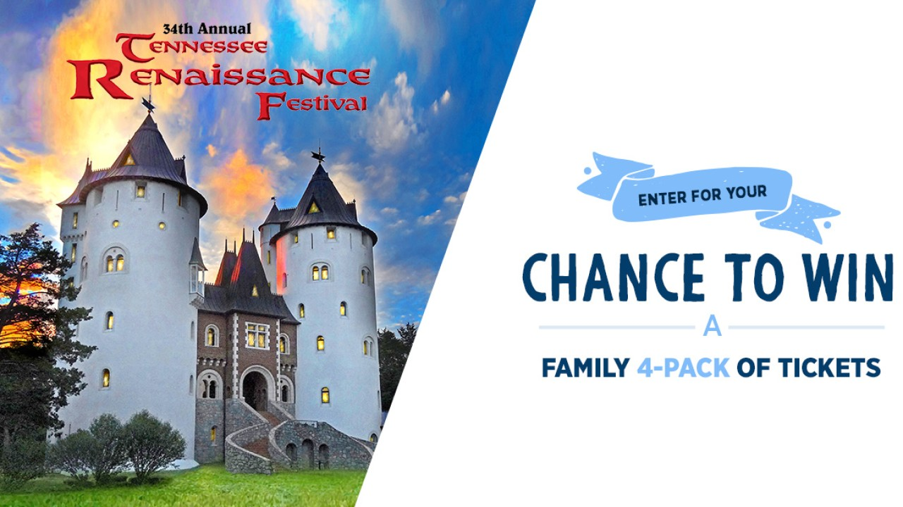 The Tennessee Renaissance Festival Sweepstakes – Win A Family 4-pack of Tickets