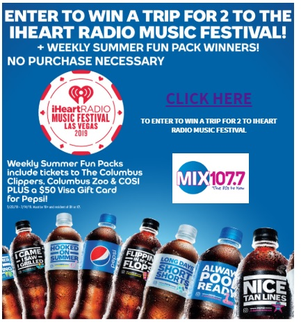 MIX 107 7 iHeart Radio Music Festival Sweepstakes - Win Trip
