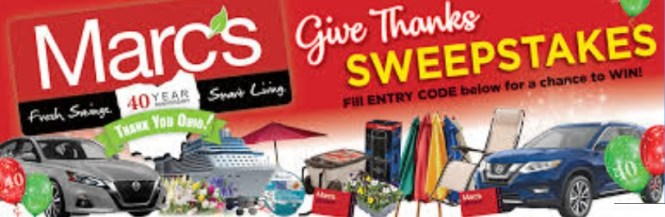 Marcs Give Thanks Sweepstakes - Win Marcs Gift Cards