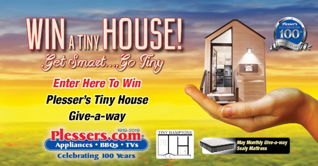 Plessers Tiny House Sweepstakes - Enter To Win Tiny House