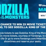 iHeartRadio Godzilla King Of The Monsters Fandango Sweepstakes