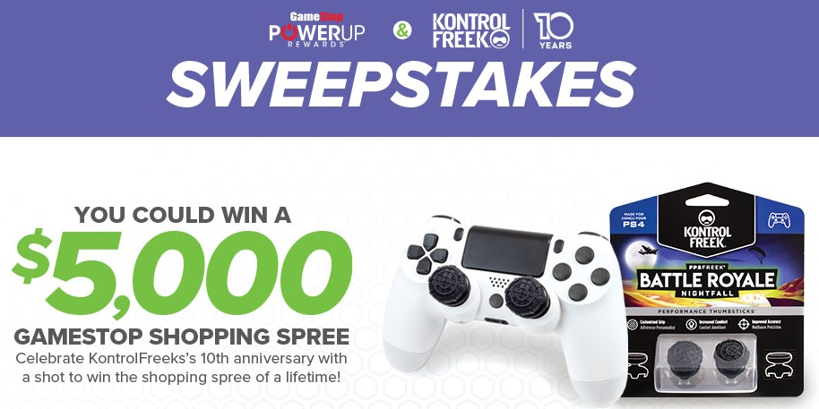 KontrolFreek 10th Anniversary Sweepstakes – Enter To Win $5000