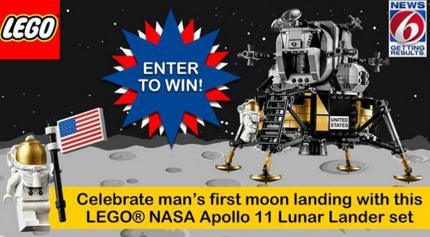 News 6 Apollo 11 Contest – Win LEGO NASA Apollo 11 Lunar Lander