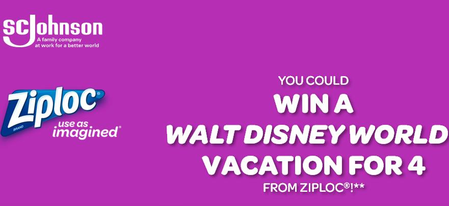The Win With Ziploc Sweepstakes – Win Theme Park Tickets