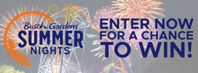 Busch Gardens Summer Nights Contest - Win Parking Pass And Meal