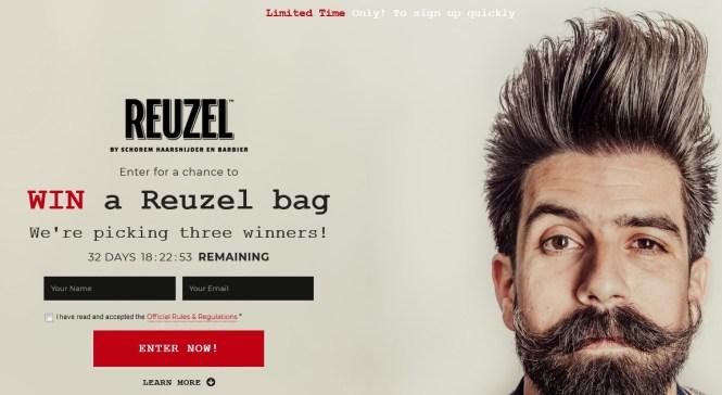 Reuzel Swag Bag Giveaway