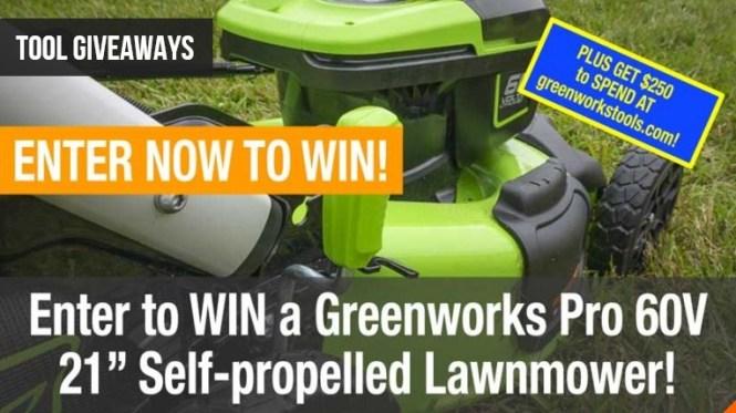 Greenworks Pro 60V Lawnmower Kit Giveaway