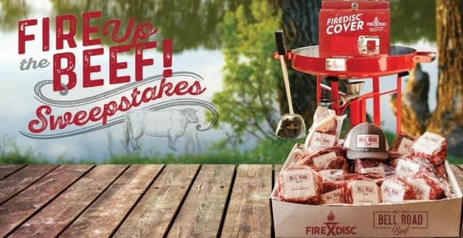 firedisccookers.com, FireDisc Cookers Sweepstakes, Fire Up The Beef Sweepstakes, Chance To Win Bell Road Beef Pack