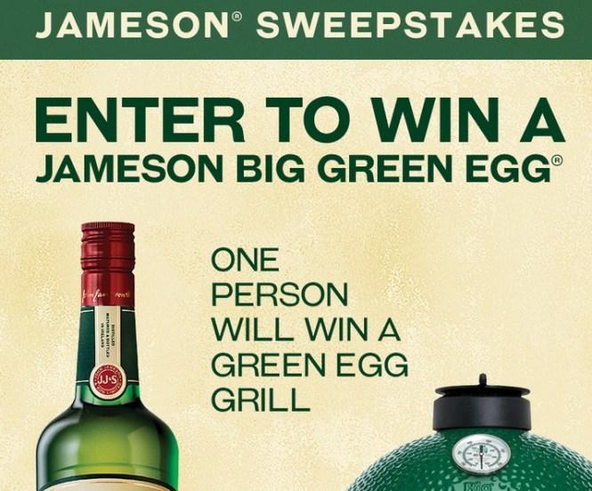 Pernod Ricard USA JAMESON BIG GREEN EGG Sweepstakes