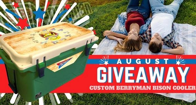 Custom Berryman Bison Cooler August Giveaway