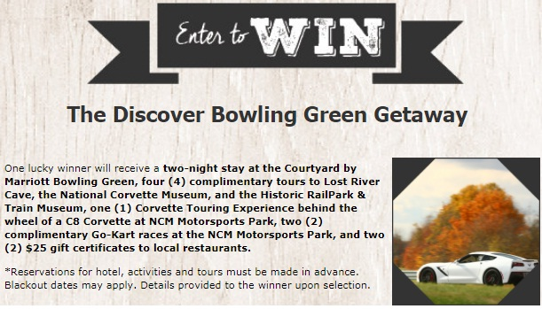 WHAS11 Discovery Bowling Green Getaway Sweepstakes