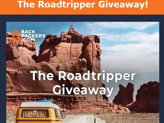 Backpackers.com Roadtripper Giveaway